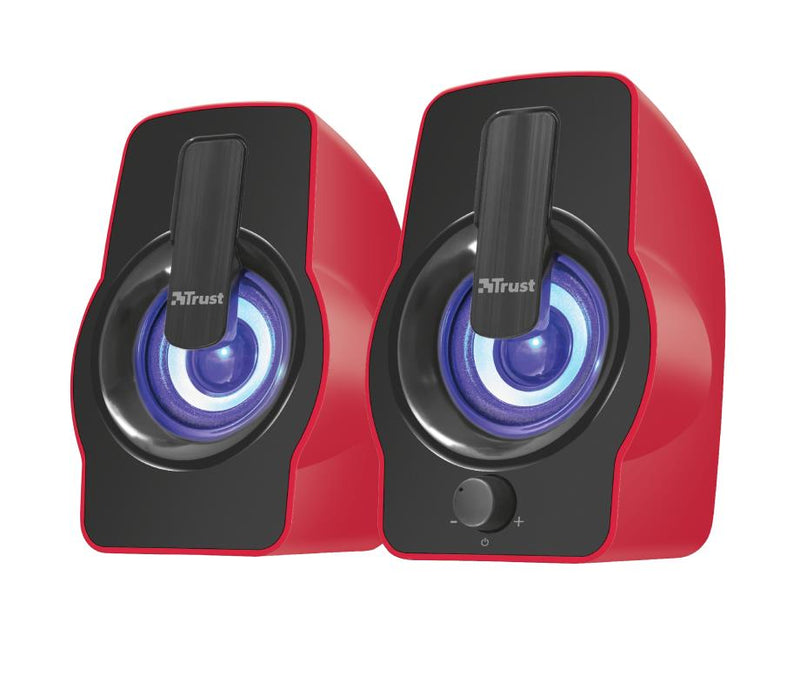Speaker|TRUST|Gemi RGB|P.M.P.O. 12 Watts|1xAudio-In|Red|22979