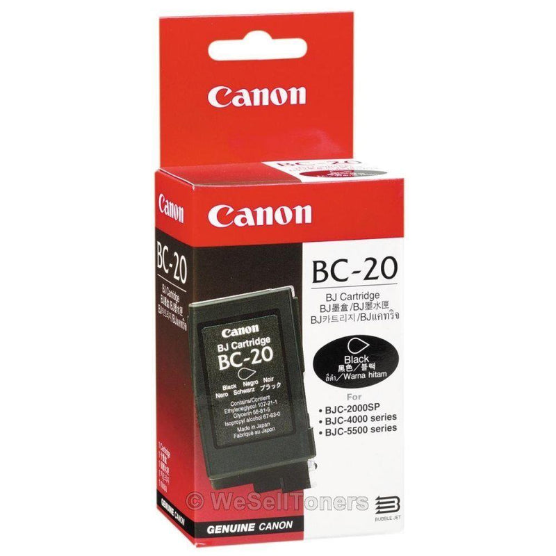 INK CARTRIDGE BLACK BC-20/0895A003 CANON