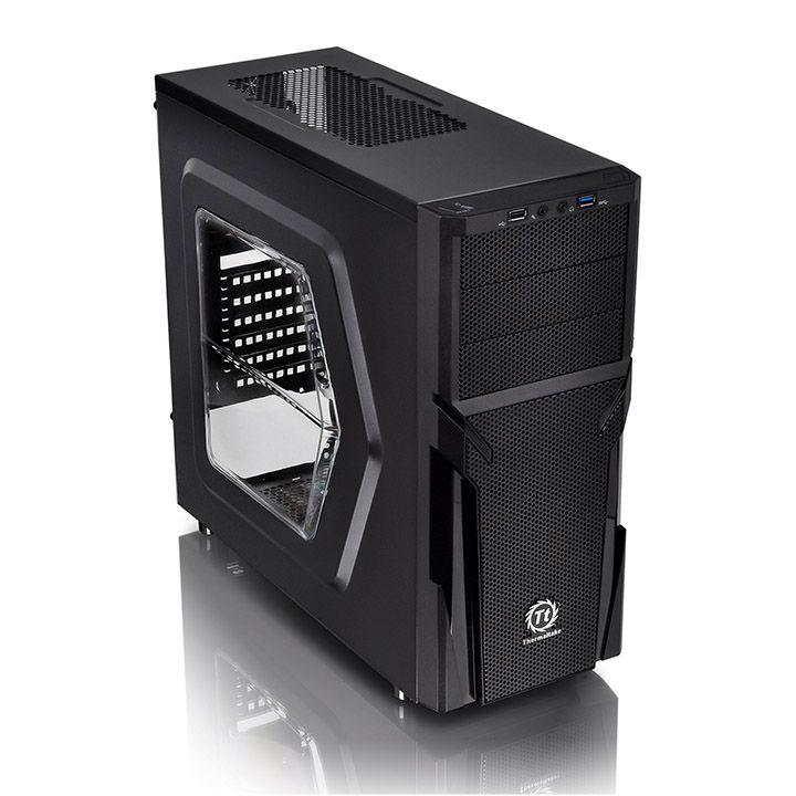 Case|THERMALTAKE|Versa H21 - Window|MidiTower|Not included|ATX|MicroATX|Colour Black|CA-1B2-00M1WN-00