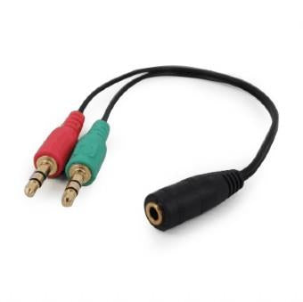CABLE AUDIO 3.5MM SOCKET TO/2X3.5MM PLUG CCA-418 GEMBIRD