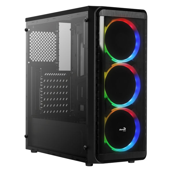 ATX Semi-tower Korpus Aerocool SI5200RGB RGB USB 3.0 Must