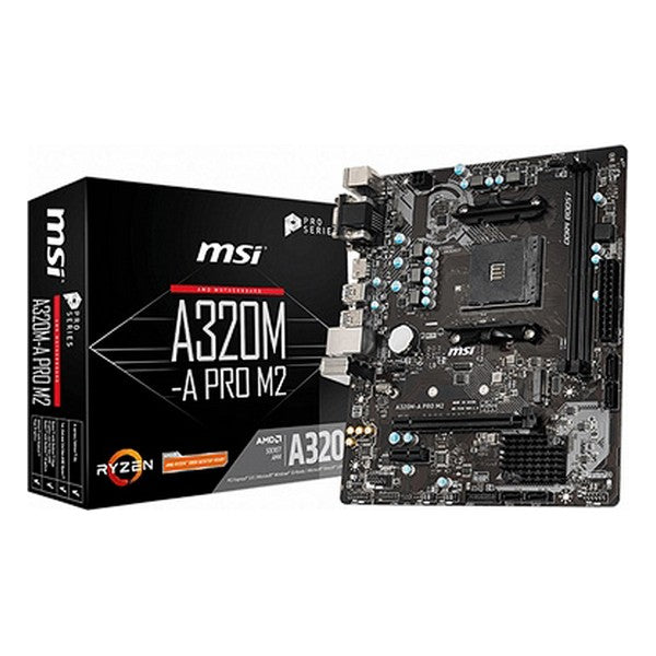 Emaplaat MSI A320M-A mATX DDR4 AM4