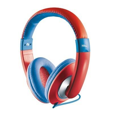 HEADPHONES SONIN KIDS RED/19836 TRUST