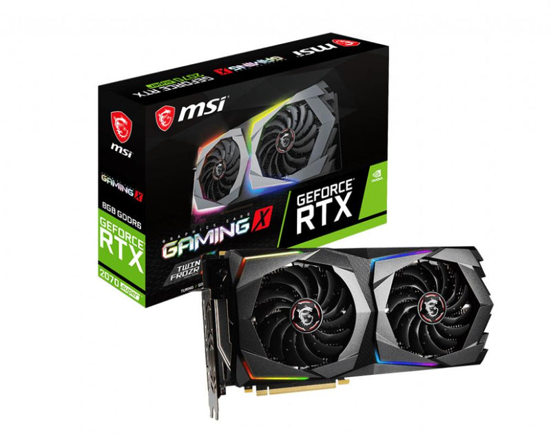 Graphics Card|MSI|NVIDIA GeForce RTX 2070 SUPER|8 GB|256 bit|PCIE 3.0 16x|GDDR6|Dual Slot Fansink|1xHDMI|3xDisplayPort|RTX2070SUPERGAMINGX