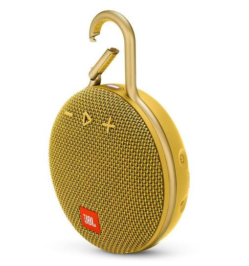 Portable Speaker|JBL|CLIP 3|Portable/Waterproof/Wireless|1xAudio-In|1xMicro-USB|Bluetooth|Yellow|JBLCLIP3YEL