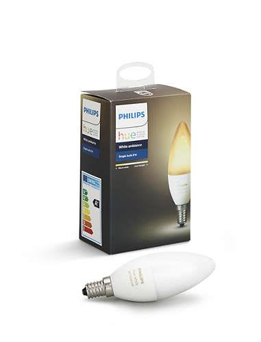 LIGHT BULB E14 B39 6W HUE/AMBIANCE 929001301401 PHILIPS