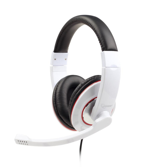 HEADSET STEREO WHITE/MHS-001-GW GEMBIRD