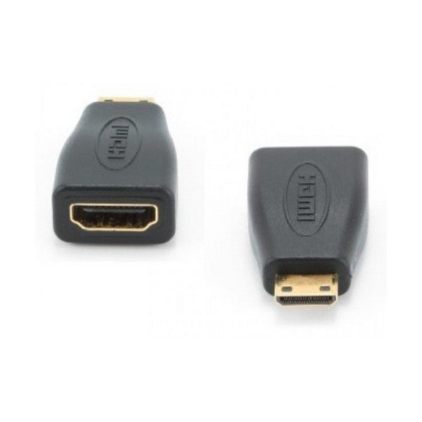 Mini HDMI-HDMI Adapter GEMBIRD A-HDMI-FC Must