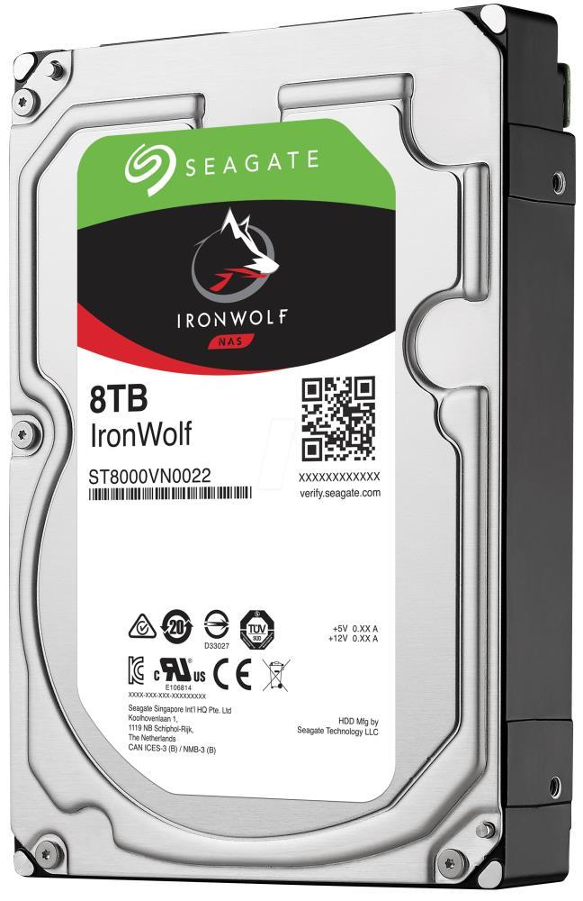 HDD|SEAGATE|IronWolf|8TB|SATA 3.0|256 MB|7200 rpm|Discs/Heads 6/12|3,5"