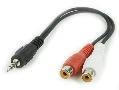 CABLE AUDIO 3.5MM TO 2RCA/SOCKET CCA-406 GEMBIRD
