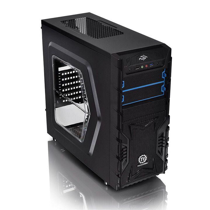 Case|THERMALTAKE|Versa H23 - Window|MidiTower|Not included|ATX|MicroATX|Colour Black|CA-1B1-00M1WN-01