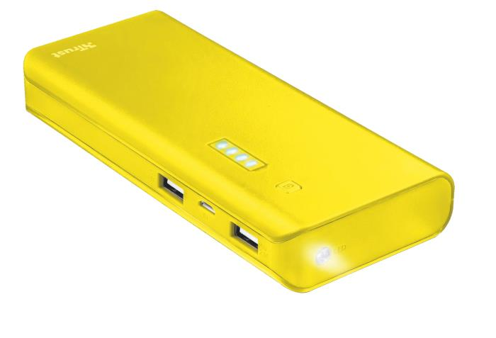 POWER BANK USB 10000MAH/YELLOW PRIMO 22753 TRUST