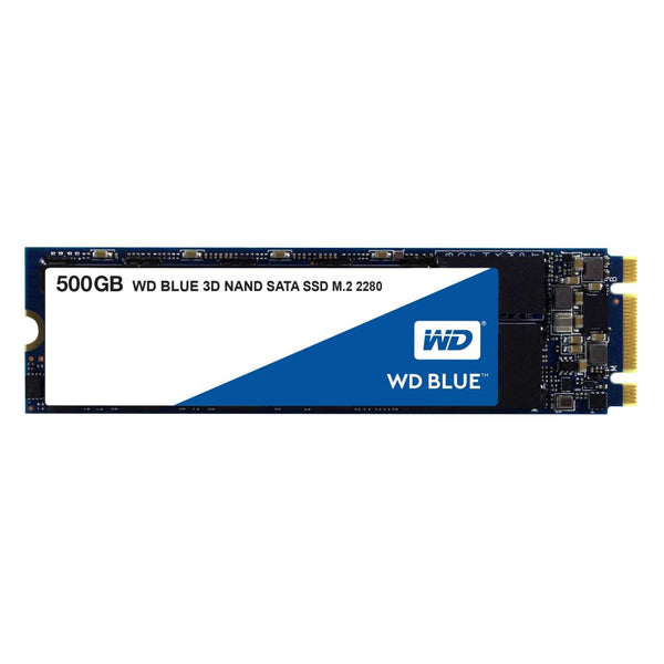 SSD|WESTERN DIGITAL|Blue|500GB|M.2|SATA 3.0|TLC|Write speed 530 MBytes/sec|Read speed 560 MBytes/sec|MTBF 1750000 hours|WDS500G2B0B