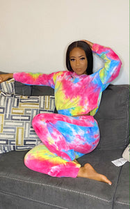 Good vibes tie dye set