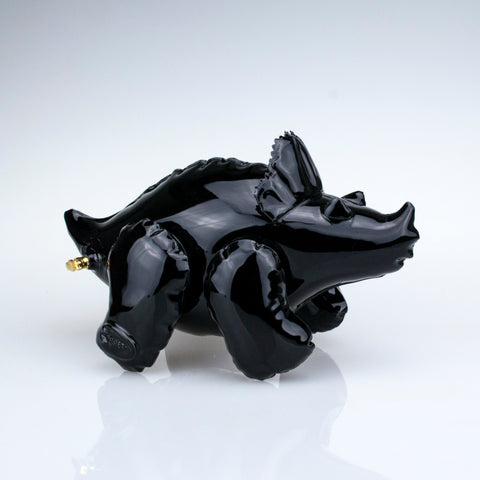 Small Inflatable Triceratops Black