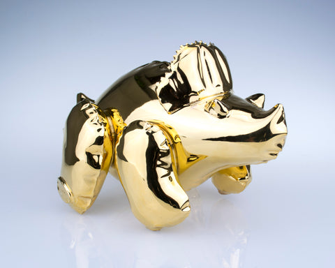 Made-to-Order, Small Inflatable Triceratops Gold
