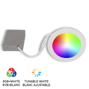 "6"" Smart WiFi RGB+White LED Recessed Light Fixture - White"