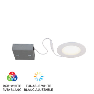 "4"" Smart Wifi RGB LED Recessed Light Fixture - White"