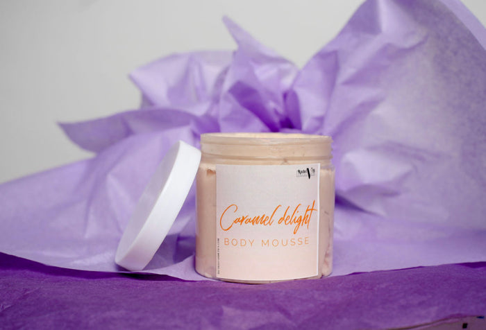 Caramel delight body mousse