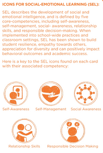 Virtual SEL and Mindfulness Cards and Teaching Guide Bundle