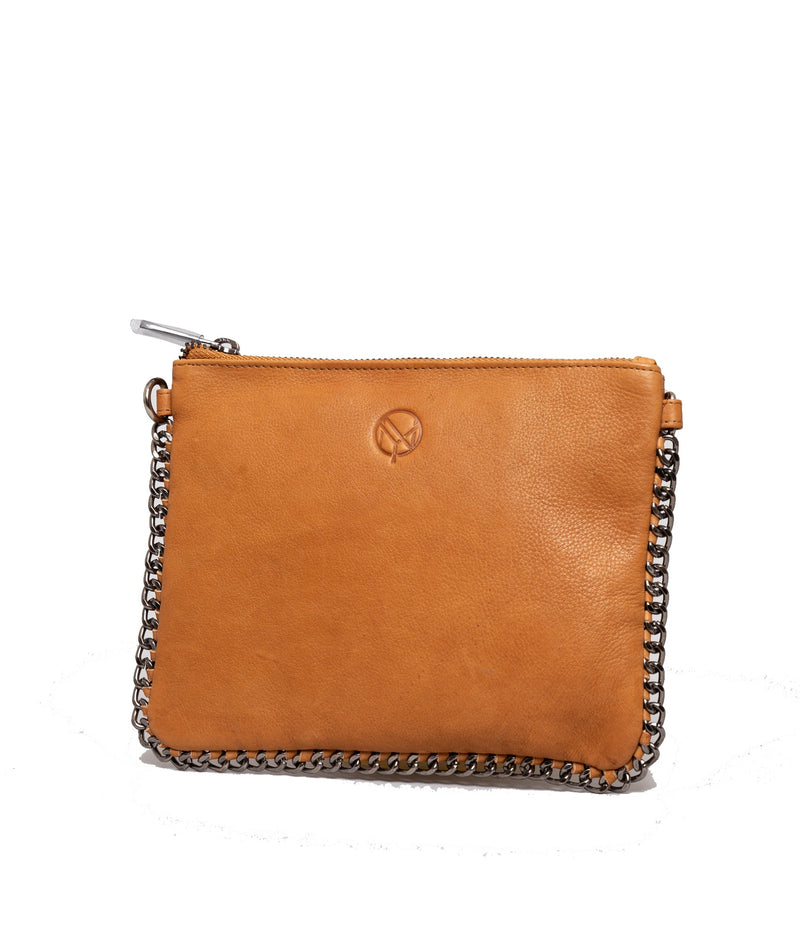 NYPD Lucy Leather Crossbody Cognac