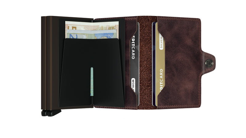 Twinwallet TV vintage chocolate