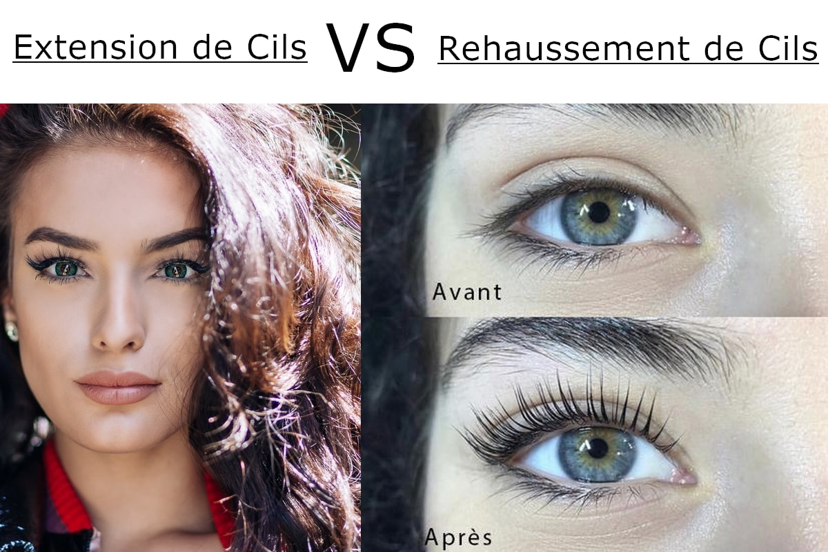 rehaussement ou extension de cils
