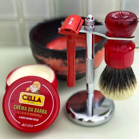 wet shaving set