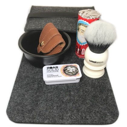 wet shaving travel set