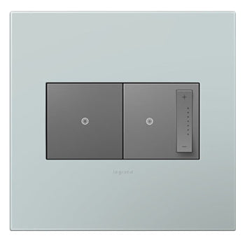 WALL PLATE, PALE BLUE