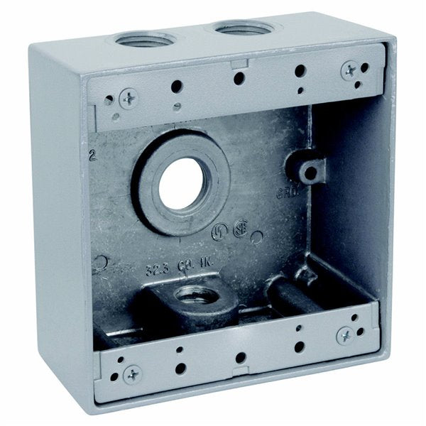 2-Gang New Work Metal Outdoor Electrical Outlet Box