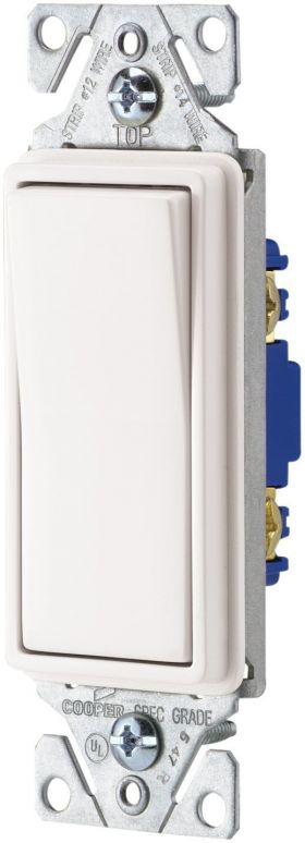 Decorator 3-way switches, White, 10-pack