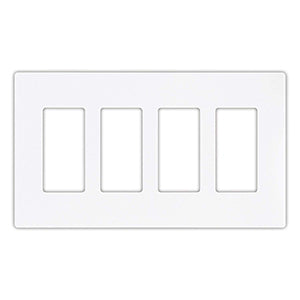 Cooper 4-Gang Decorator Screwless Wallplate
