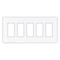 Cooper 5-Gang Decorator Screwless Wallplate