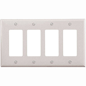 Cooper Mid-Size 4-Gang Wallplate