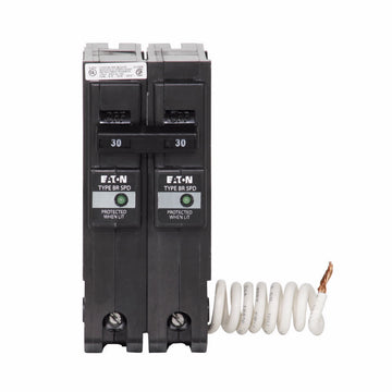 Eaton Cutler-Hammer 30 Amp 2 Pole BR Breaker with Surge Protection