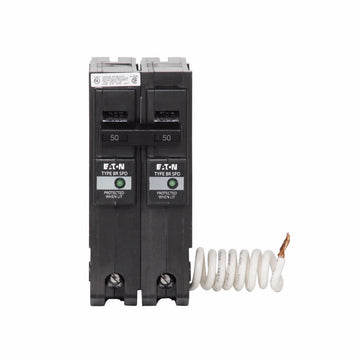 Eaton Cutler-Hammer 50 Amp 2 Pole BR Breaker with Surge Protection