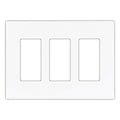 Cooper 3-Gang Decorator Screwless Wallplate