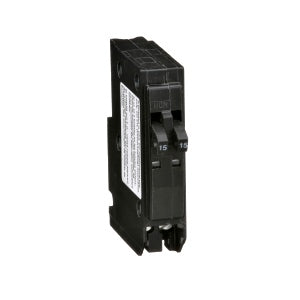 Square-D Plug-In 15A/15A TWIN Breaker