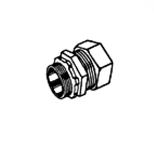 RAIN TIGHT Steel Compression Connector for EMT