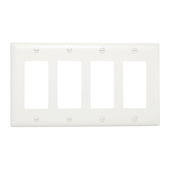 DECORATOR OPENINGS, FOUR GANG, WHITE