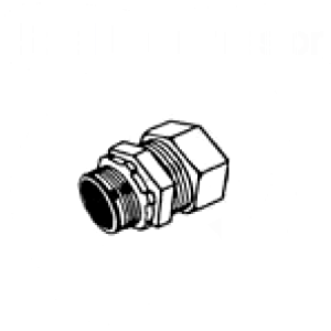 RAIN TIGHT Steel Compression Connector for EMT - Insulated Throat