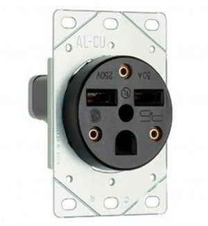 30A 125/250V FLUSH DRYER RECEPTACLE