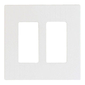 Cooper 2-Gang Decorator Screwless Wallplate