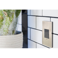 WALL PLATE, BRUSHED STAINLESS STEEL