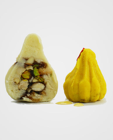 Kesar Modak (dryfruit stuffed, No added sugar)