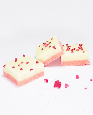 Vanilla Raspberry Barfi Fudge