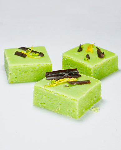 Raspberry and Pista Fudge | Barfi