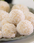 White chocolate honey - Coconut laddos