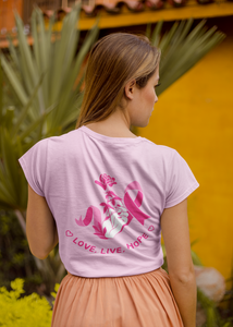 Love Live Hope Breast Cancer Women's short sleeve t-shirt